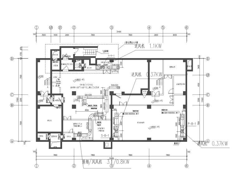 科研楼、生产车间、综合楼、人防暖通设计图