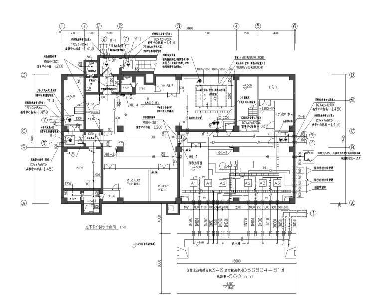 科研楼、生产车间、综合楼、人防给排水设计