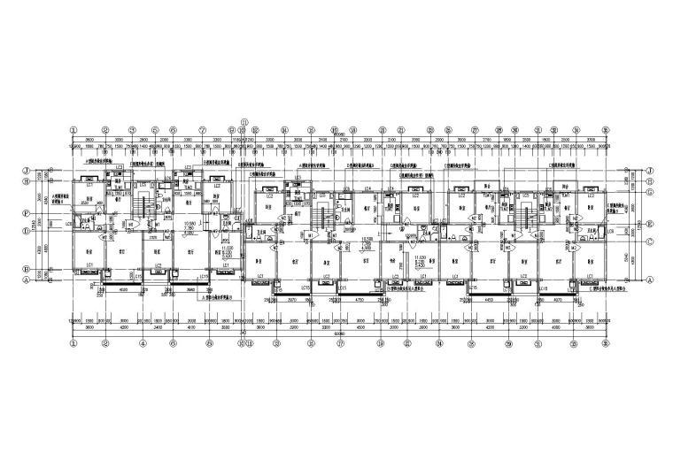 07多层阁楼坡屋顶住宅楼建筑二至四层平面图