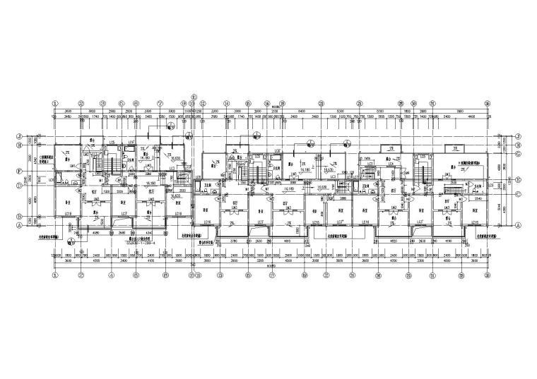 08多层阁楼坡屋顶住宅楼建筑阁楼层平面图
