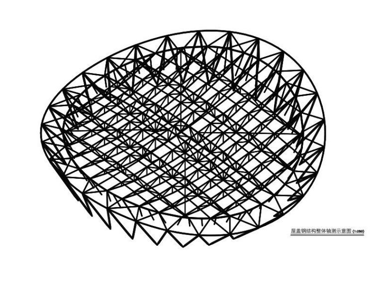 双向鱼腹式单榀桁架体育馆钢屋盖结构施工图