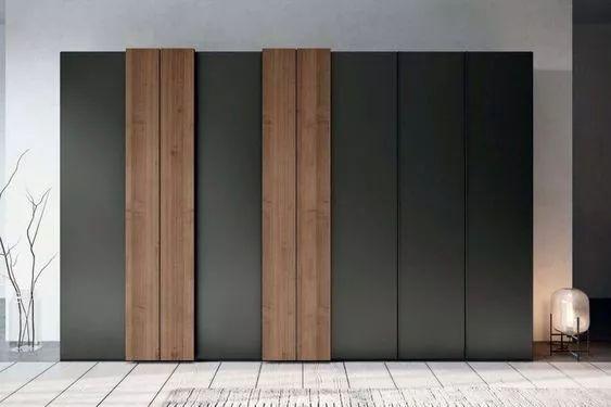"""暗门3种饰面材料""""石材/木饰面/壁纸""""工艺"""