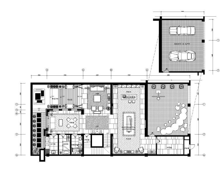 新中式风格别墅室内装修全套施工图+实景图