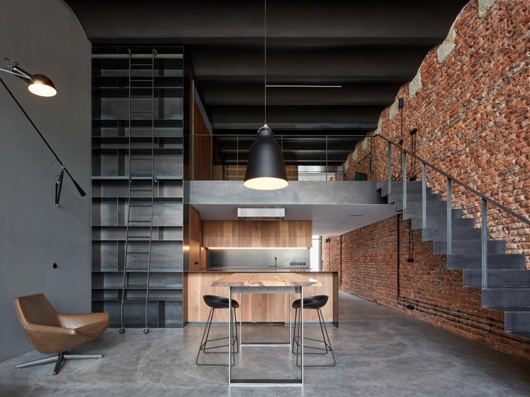 捷克啤酒厂Loft改造的住宅
