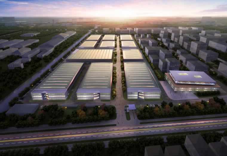 [江苏]绿色人性化创意厂房园区建筑方案文本