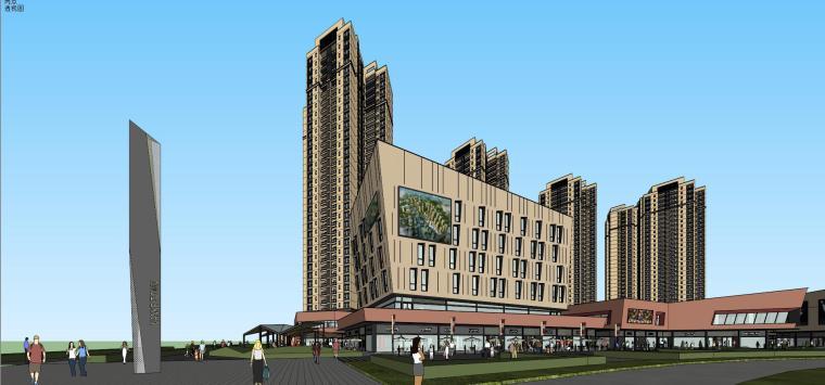 万科里 万科城 商业+高层+入口 (2)