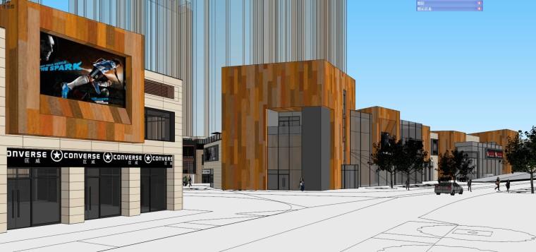 万科商业建筑模型设计(现代风格)