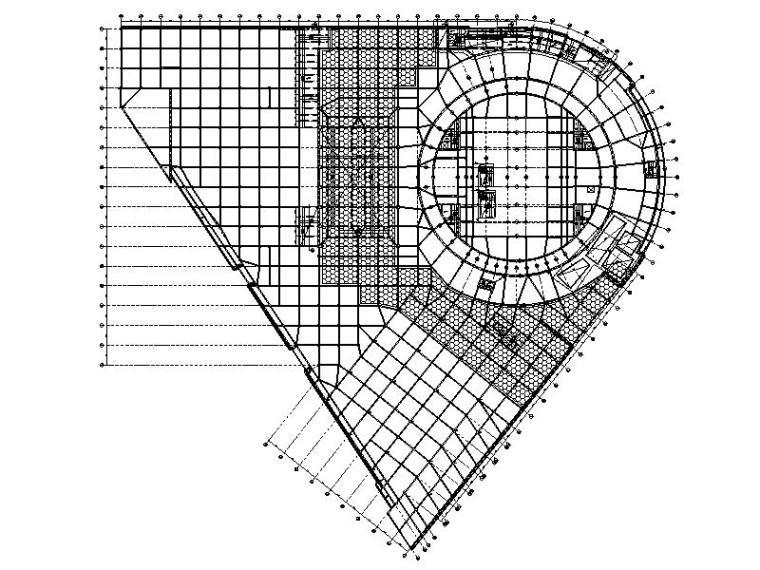 框剪结构游泳馆建筑结构施工图(索网钢屋盖)