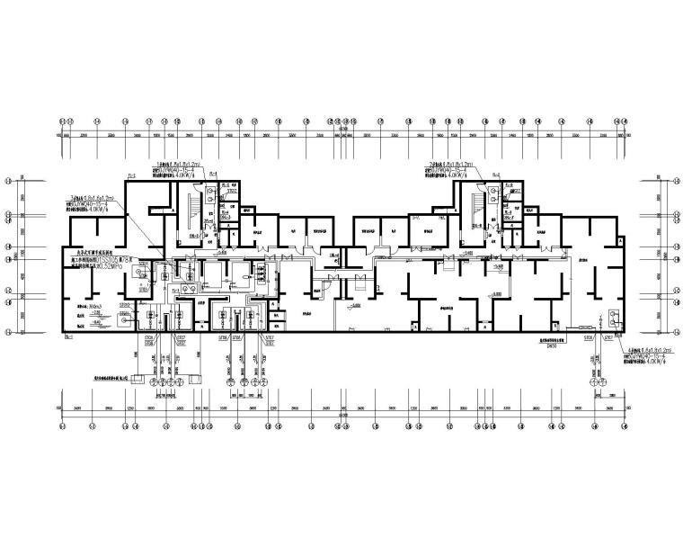 两幢32层住宅楼给排水全套施工图完整CAD版
