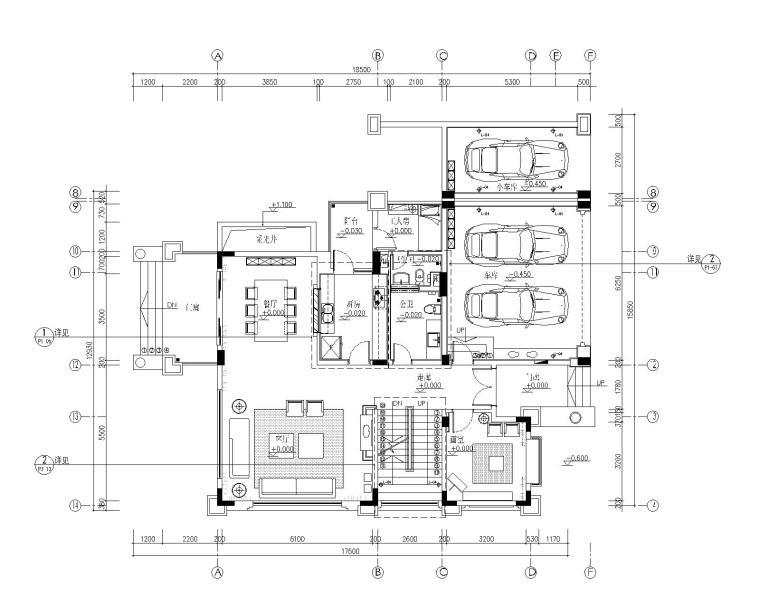 广州番禺某东南亚风格别墅样板房施工图