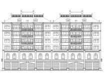多层坡屋顶砖混阁楼底商住宅楼建筑施工图