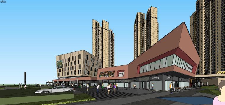 万科里 万科城 商业+高层+入口 (5)