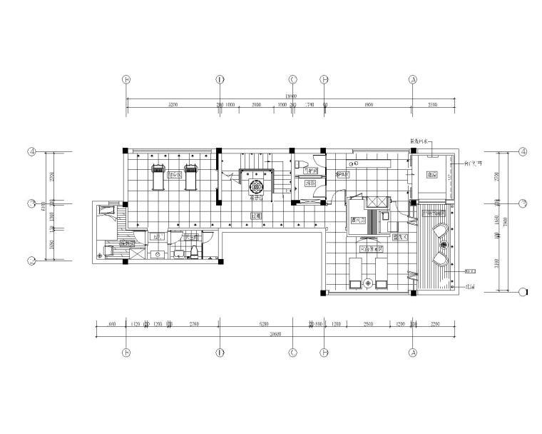 贵谷四居室样板房室内装修全套CAD施工图