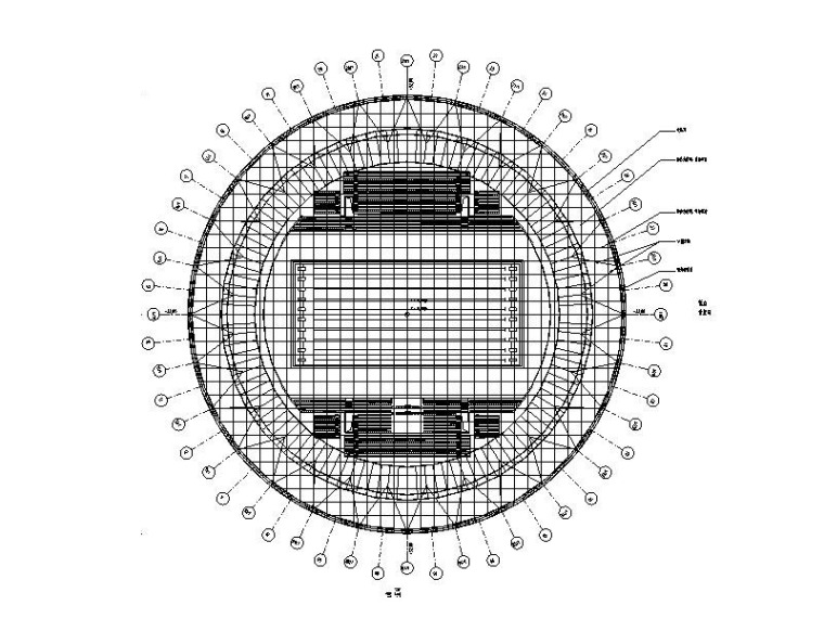 索网结构游泳馆钢屋盖结构施工图(2014)