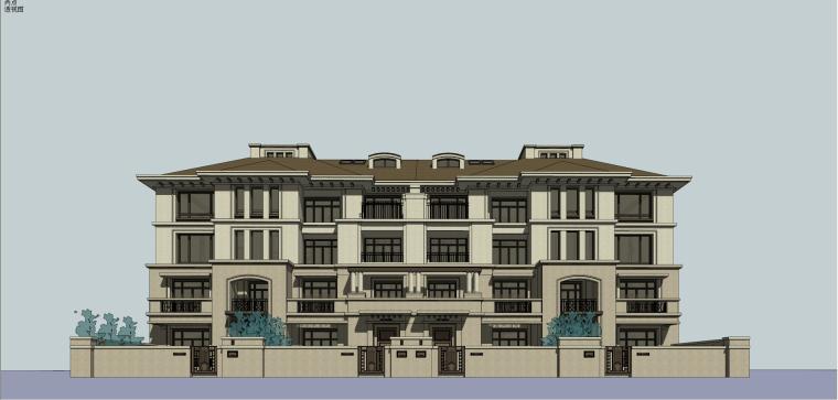 万科琥珀俊园洋房+小高层建筑模型