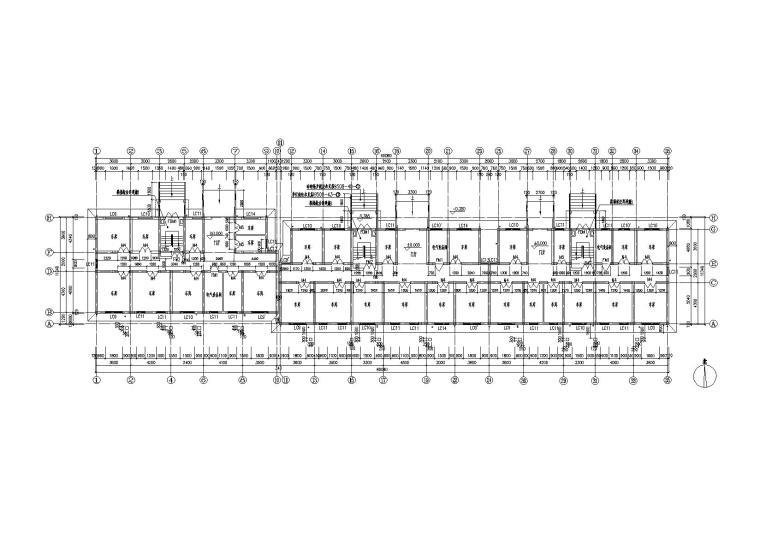 05多层阁楼坡屋顶住宅楼建筑车库层平面图