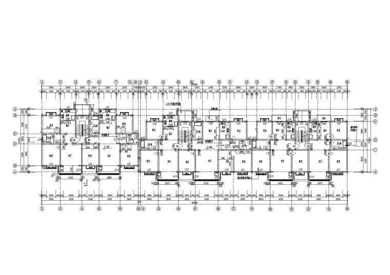 06多层阁楼坡屋顶住宅楼建筑一层平面图