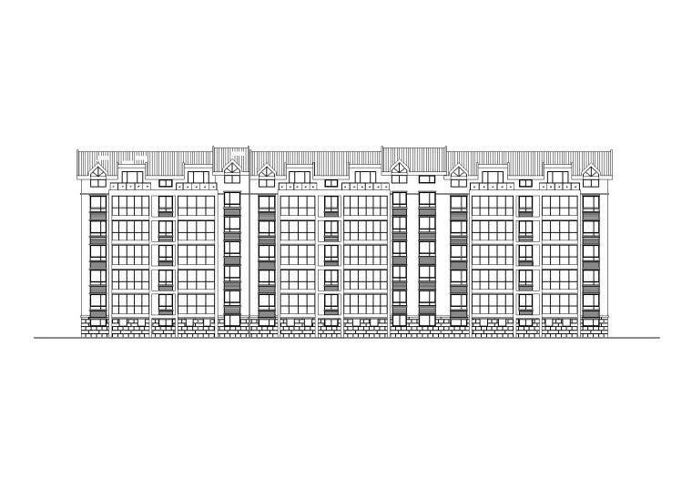 多層閣樓坡屋頂住宅樓建筑施工圖