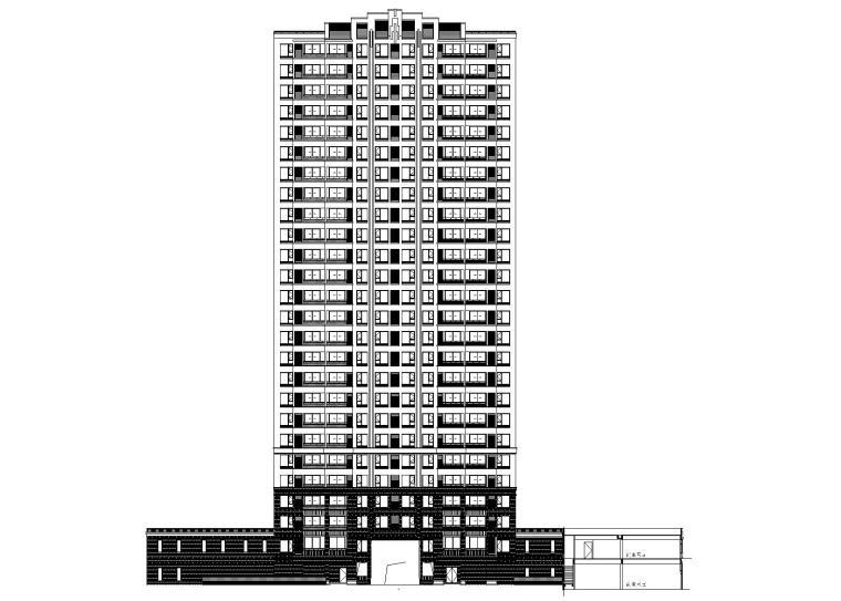 嘉兴城南路西常睦路南地块住宅建筑施工图