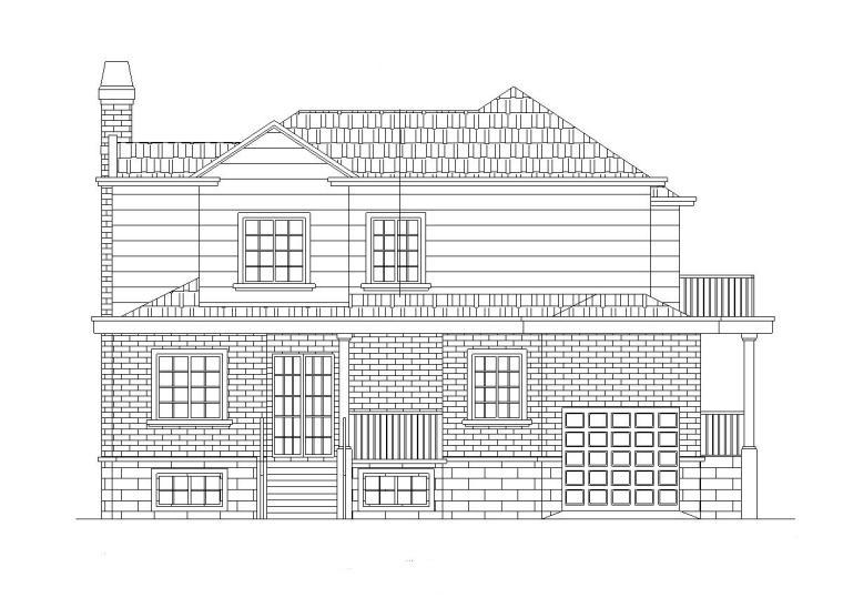 现代中式风格2层独栋别墅施工图设计