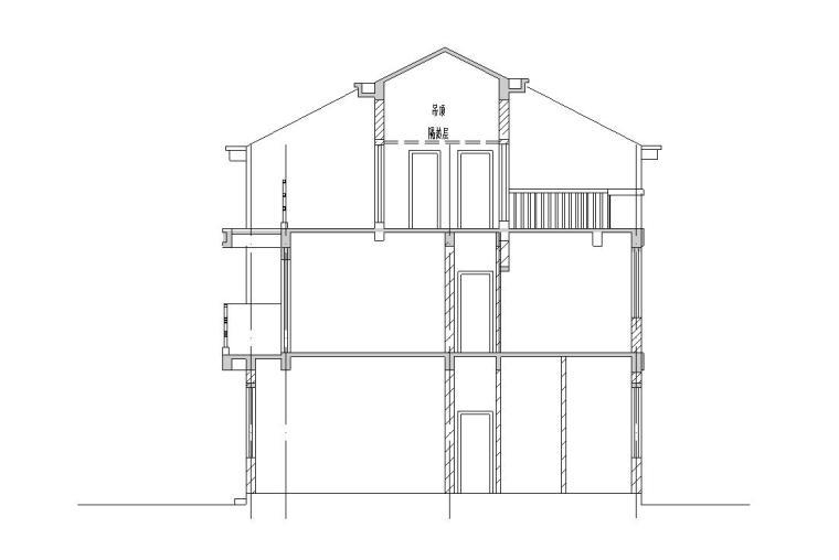 三层新农村单家独院式别墅施工图