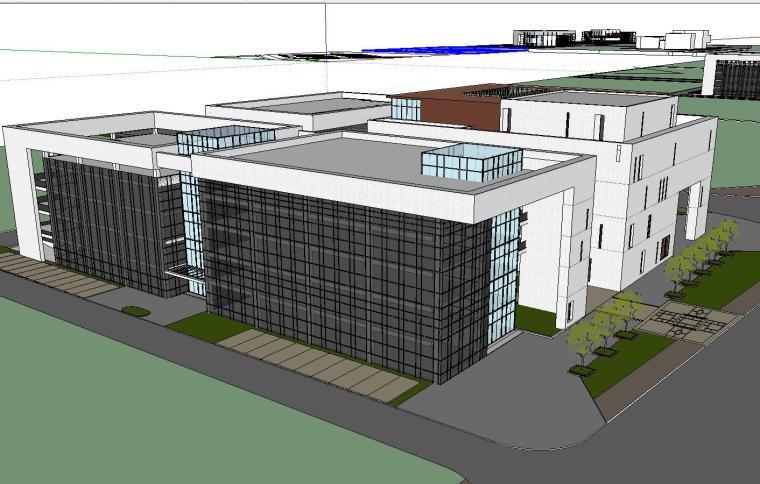 [四川]现代风格行政办公楼建筑模型方案五