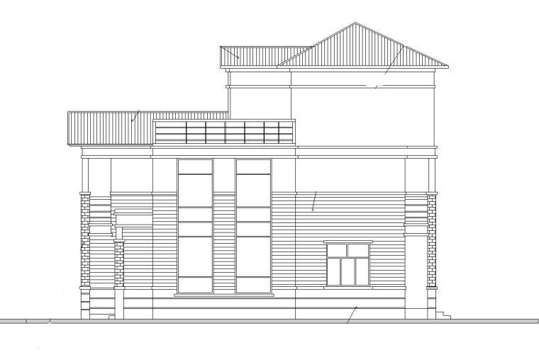 现代风格单家独院式别墅建筑施工图