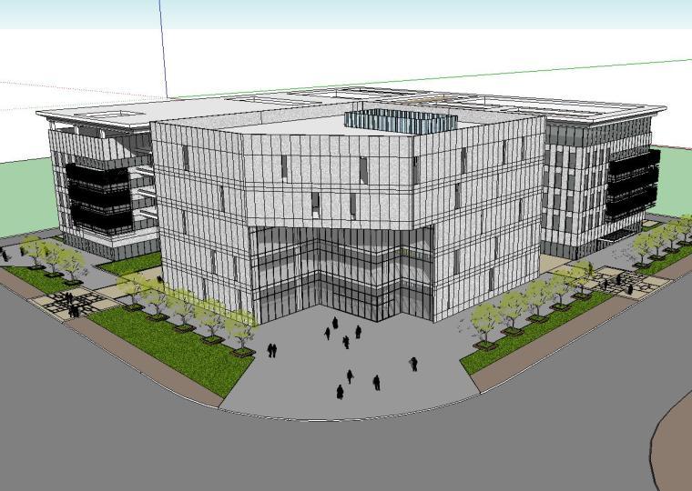 [四川]现代风格行政办公楼建筑模型方案三
