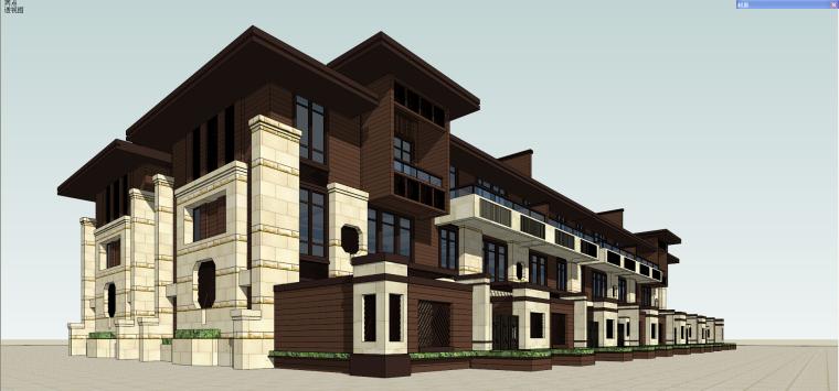 [四川]新中式风格别墅建筑模型设计