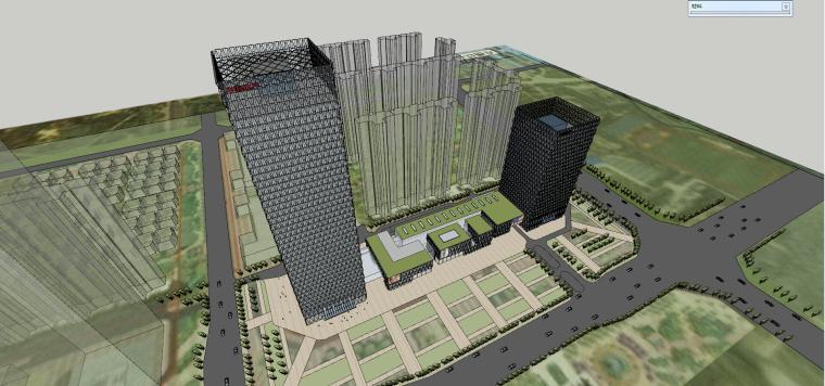 超高层综合楼建筑设计(现代风格)