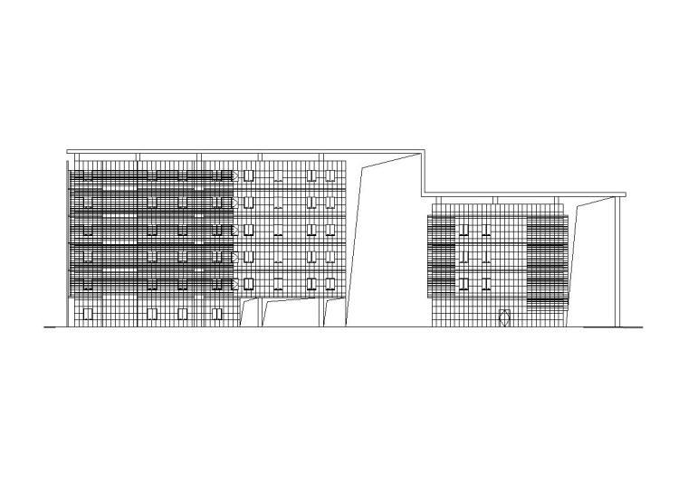 [四川]现代风格行政办公楼建筑施工图