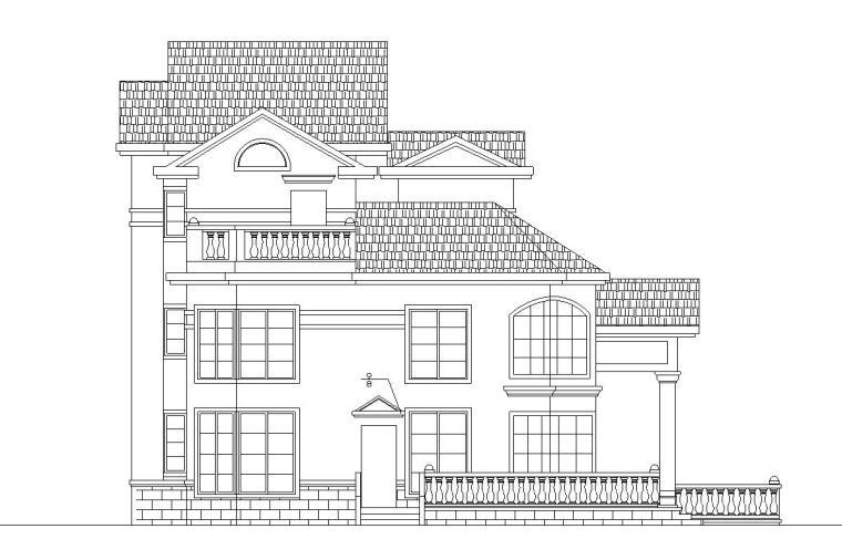 欧式风格3层单家独院式别墅