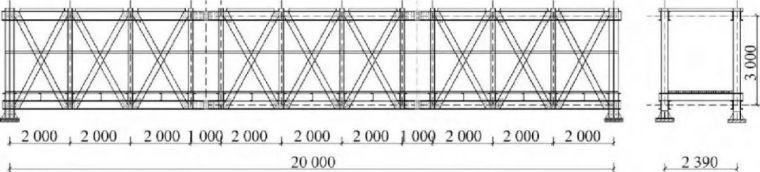 纤维增强复合材料拉挤型材桁架桥静动力性能