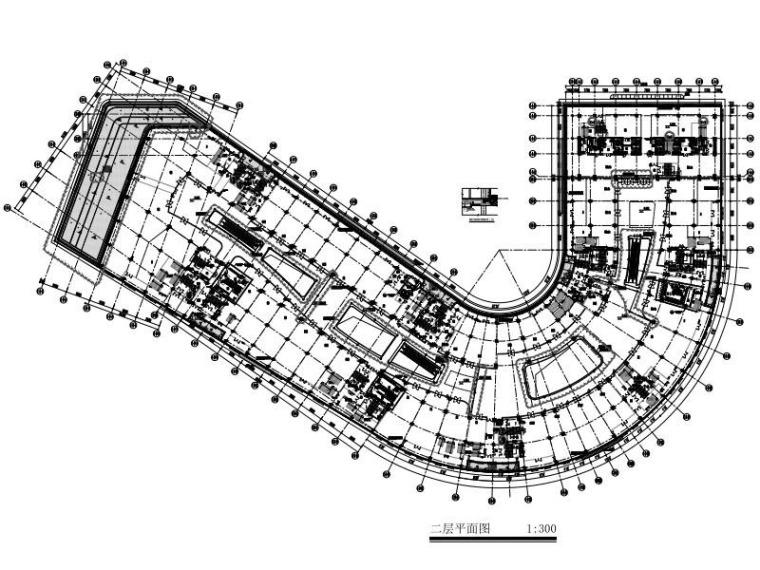 框架抗震墙结构商业服务楼建筑结构施工图