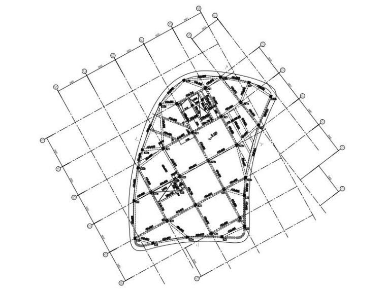 框架结构商业楼加层改造建筑结构施工图