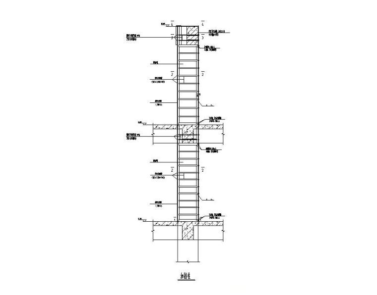 框架柱包钢加固施工图(2013)