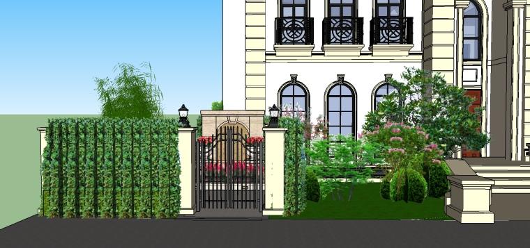 花园洋房别墅方案设计SU模型