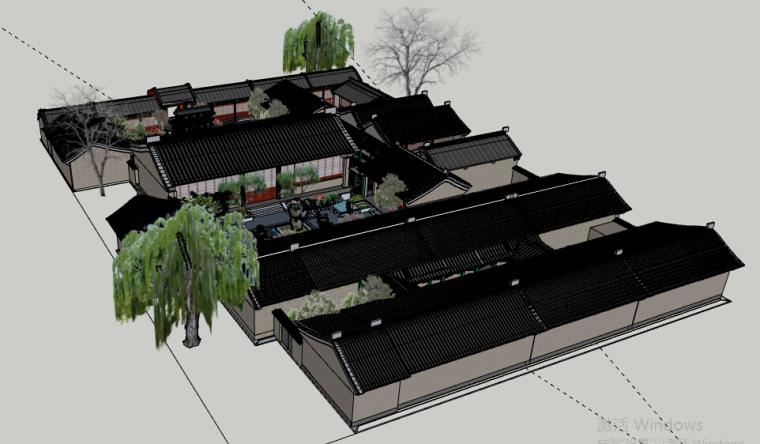 四合院会所景观方案设计