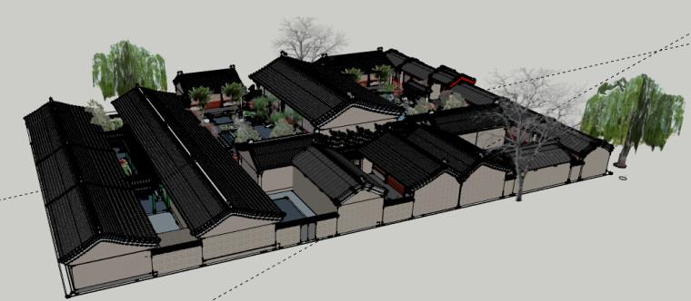 四合院会所景观方案设计-1