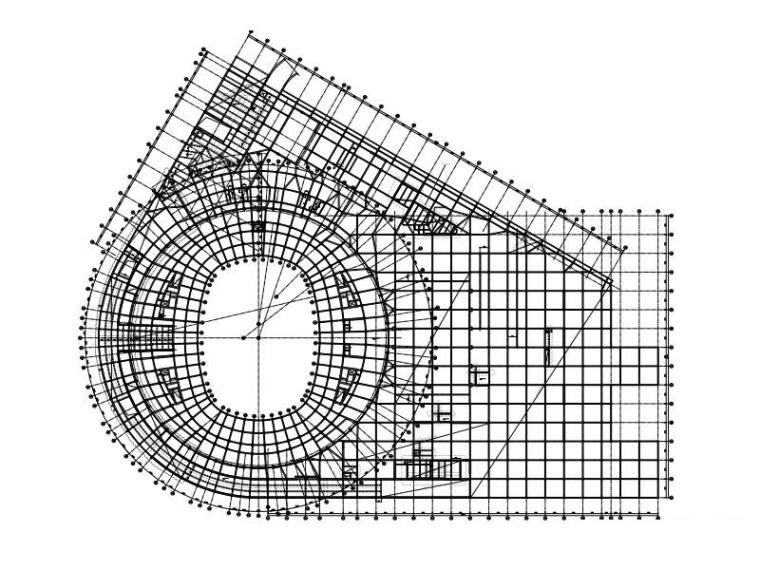 6层框架剪力墙结构体育馆建筑结构施工图