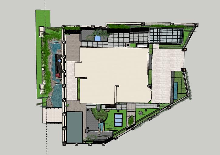 别墅景观方案设计模型-别墅景观设计