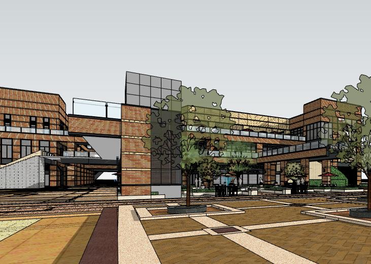 现代风格商场建筑模型设计