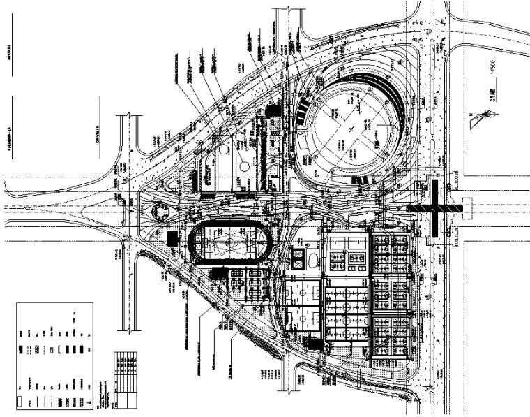 湖南新建体育场馆电气项目施工图(总图)
