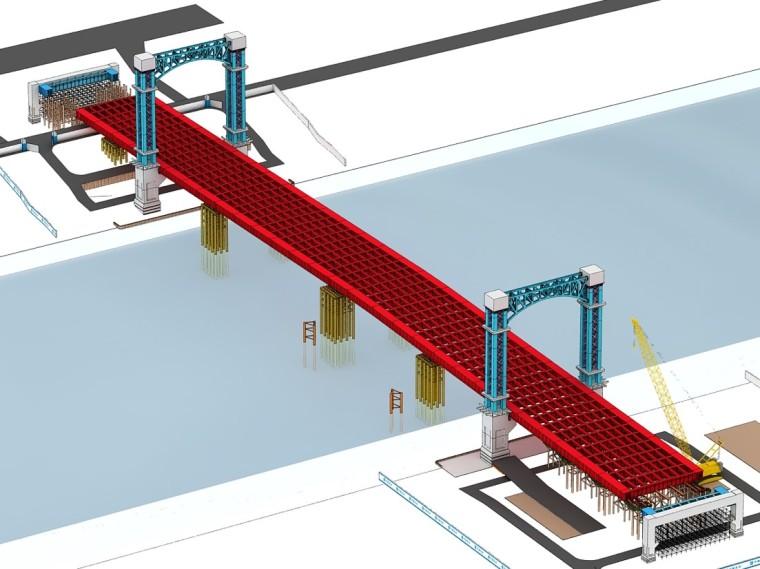 大跨度柔性钢梁顶推施工技术