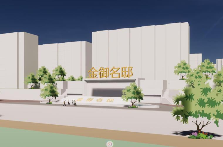 [吉林]现代中式小高层住宅建筑设计