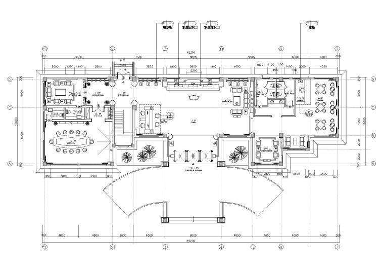 [重庆]朗森-天福山会所空间施工图+效果图