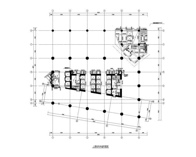 二层结构平面布置图