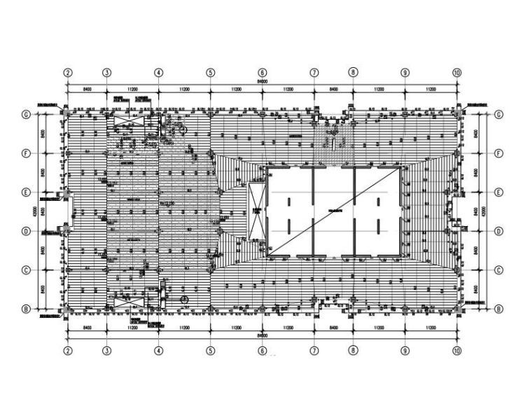 型钢混凝土框架-钢混核心筒大厦超限结构图