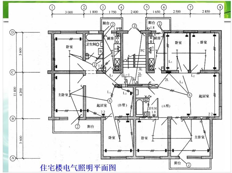 3、住宅楼电气照明平面图