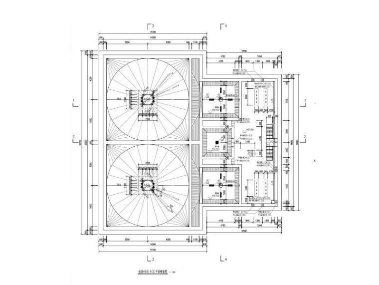 构筑物高效沉淀池结构施工图(框架结构)